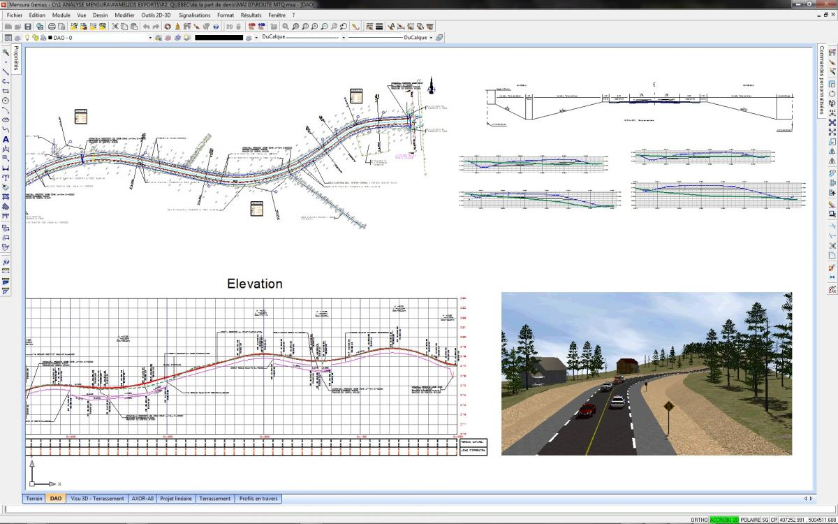 Road design software, calculate catchment area | Geomensura